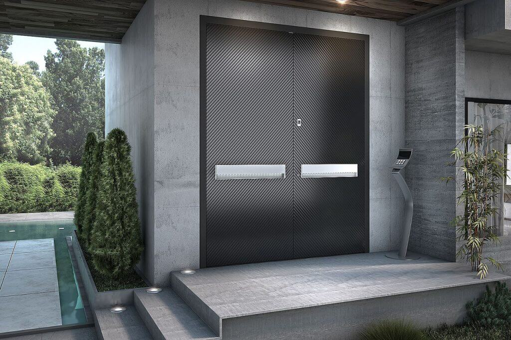 Luxury entry door in a modern house